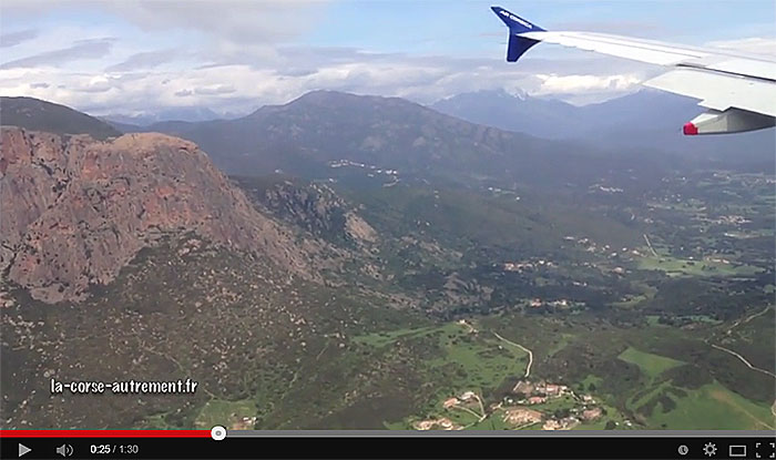 Arrivée à Ajaccio avec Air Corsica.