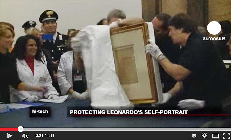 Euronews hi-tech - L'auto-portrait de Léonard de Vinci exposé à Turin.