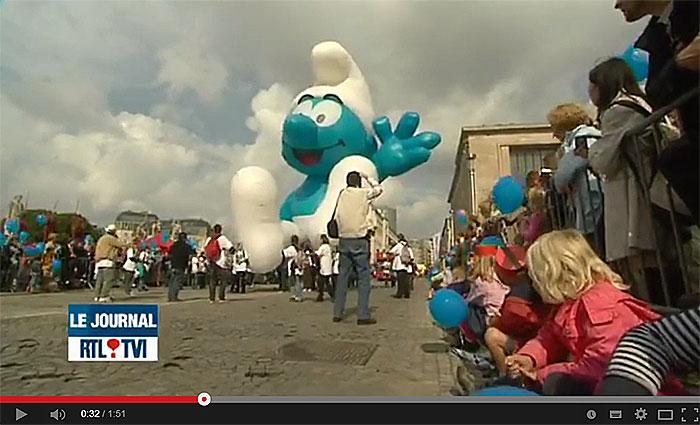 Ballon's parade en clôture de la fête de la BD à Bruxelles - Vidéo de RTL Info