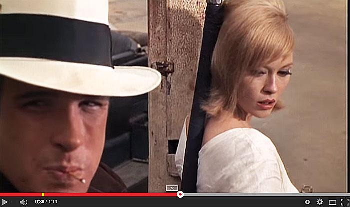 Teaser Bonnie and Clyde d'Arthur Penn.