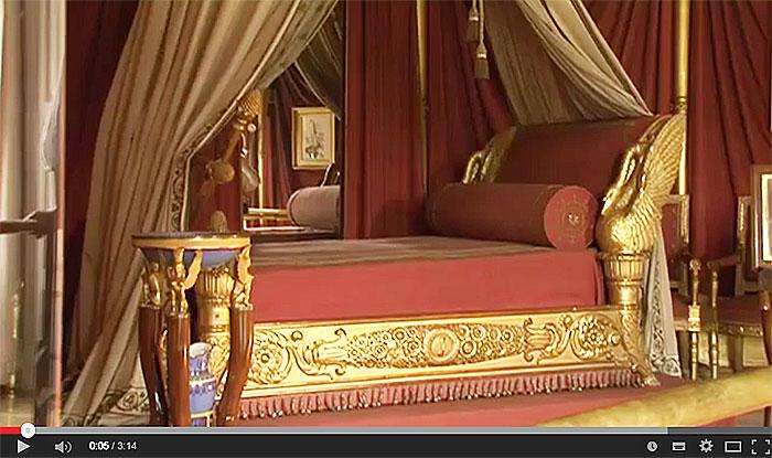 Restauration du lit de l'impératrice Joséphine.