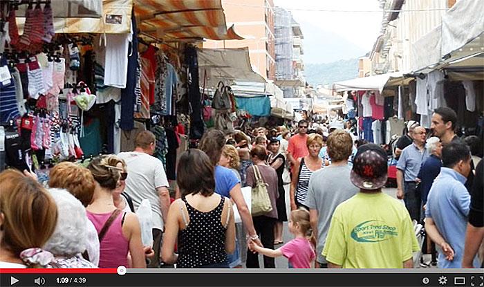 Le marché de Luino.