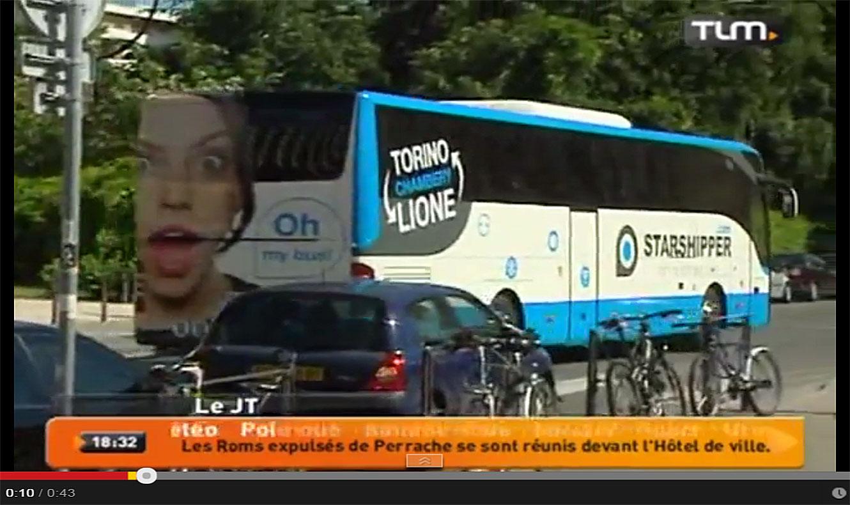 Un bus quotidien Lyon-Turin, etc...