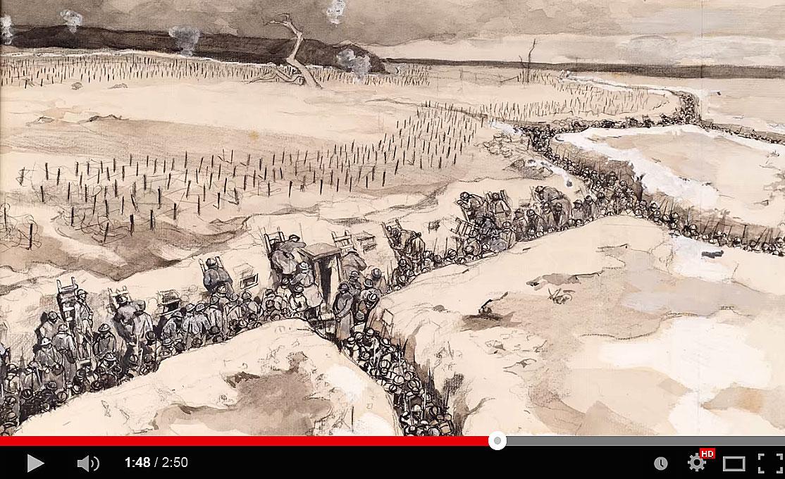 Bande annonce de l'exposition « Vu du front. Représenter la Grande Guerre.»