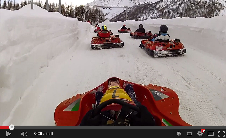 Ice Kart a Cervinia.