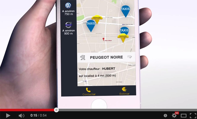 Commande d'un taxi à proximité et mise en relation gratuite en VoIP