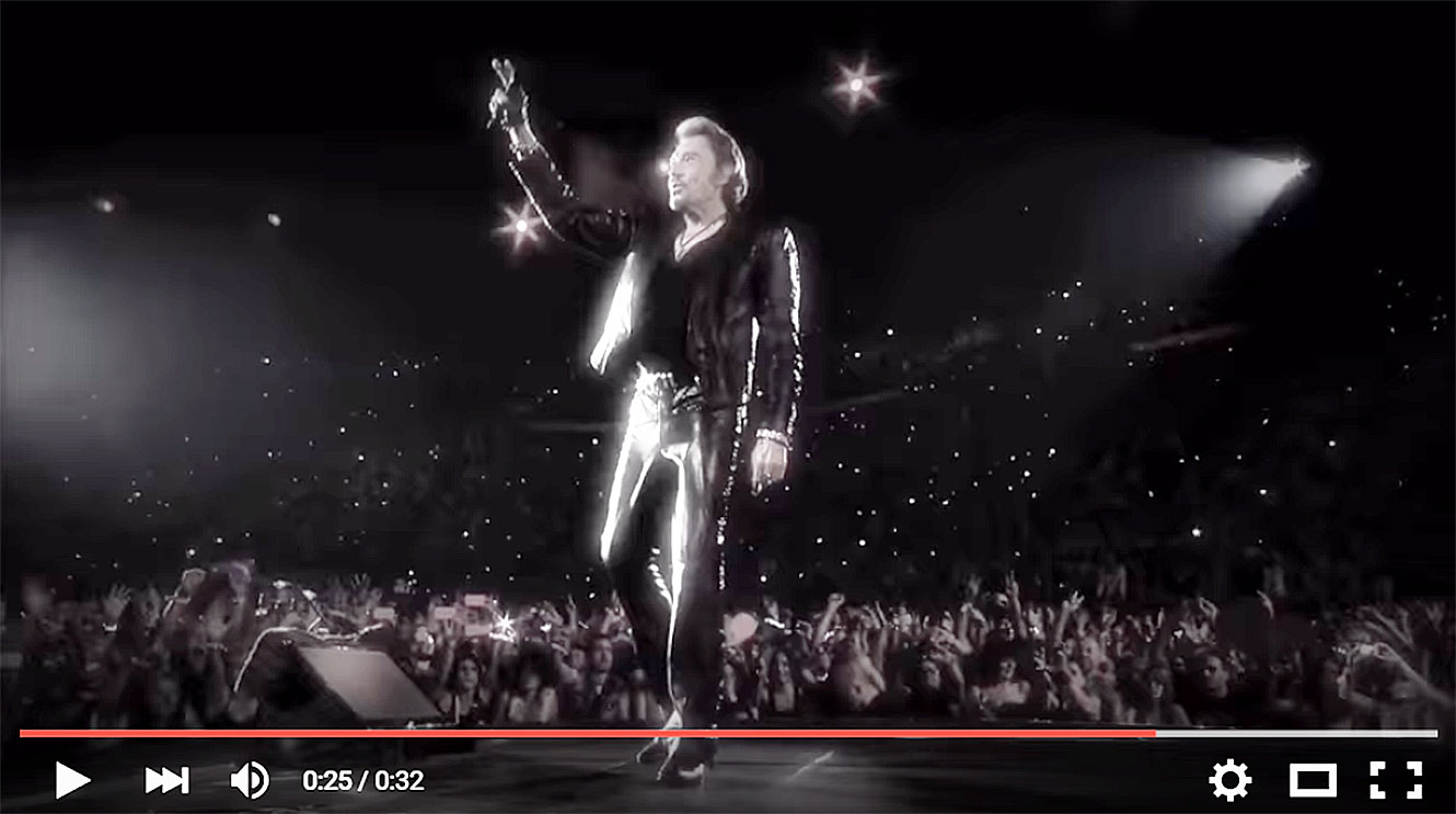 Johnny Hallyday en concert au Printemps de Pérouges 2016.